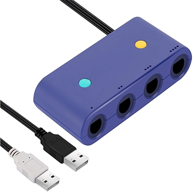 3 in 1 New Nintendo Gamecube NGC Controller Adapter to WII U PC Switch  Gamepad Converter with Turbo